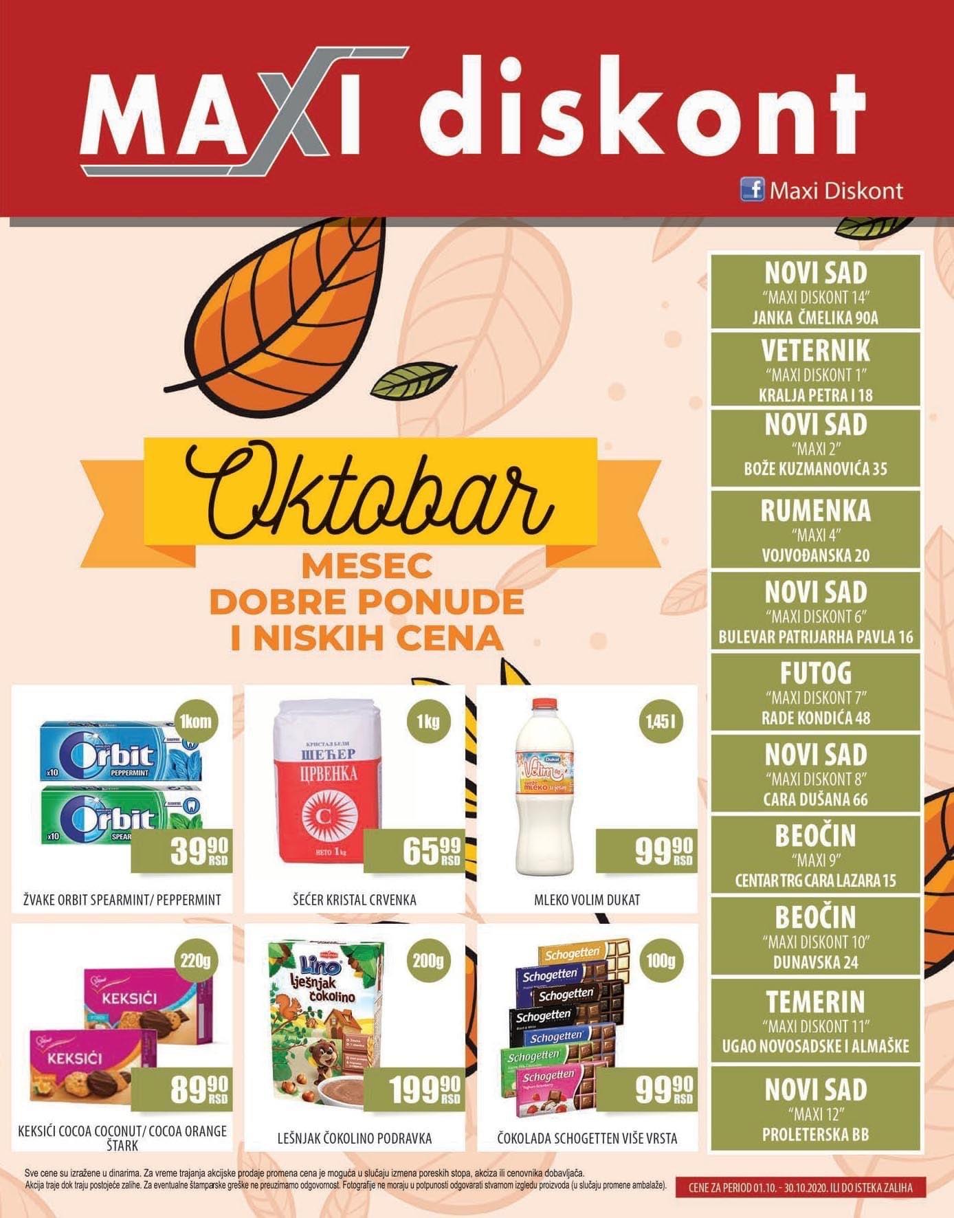 Maxi diskont -novi akcijski katalog