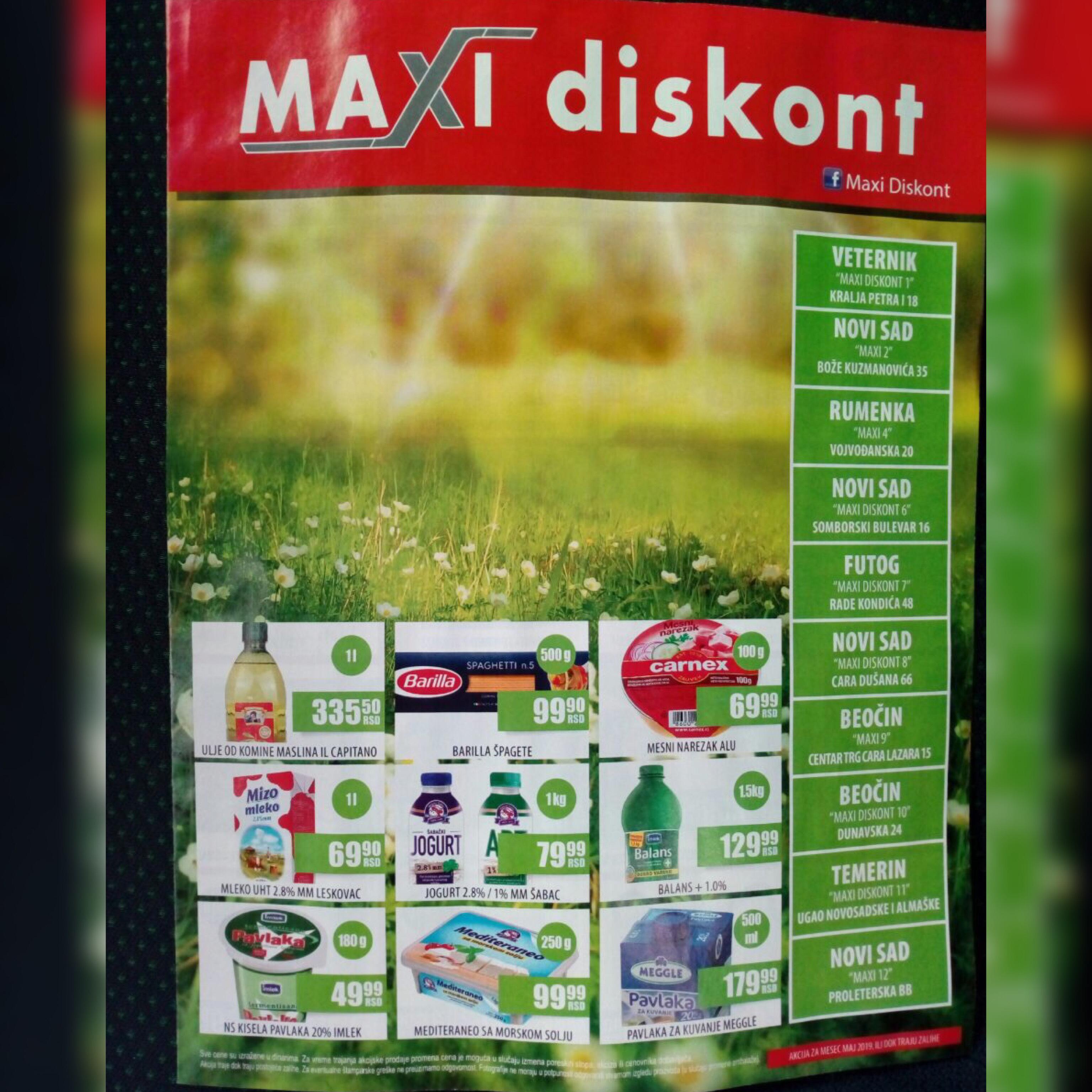 Maxi Diskont na području Novog Sada