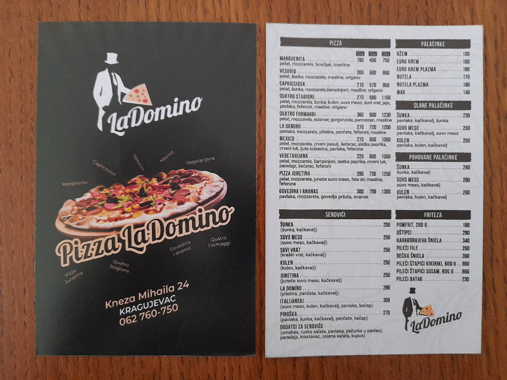 Podela i štampa flajera Pizza La Domino