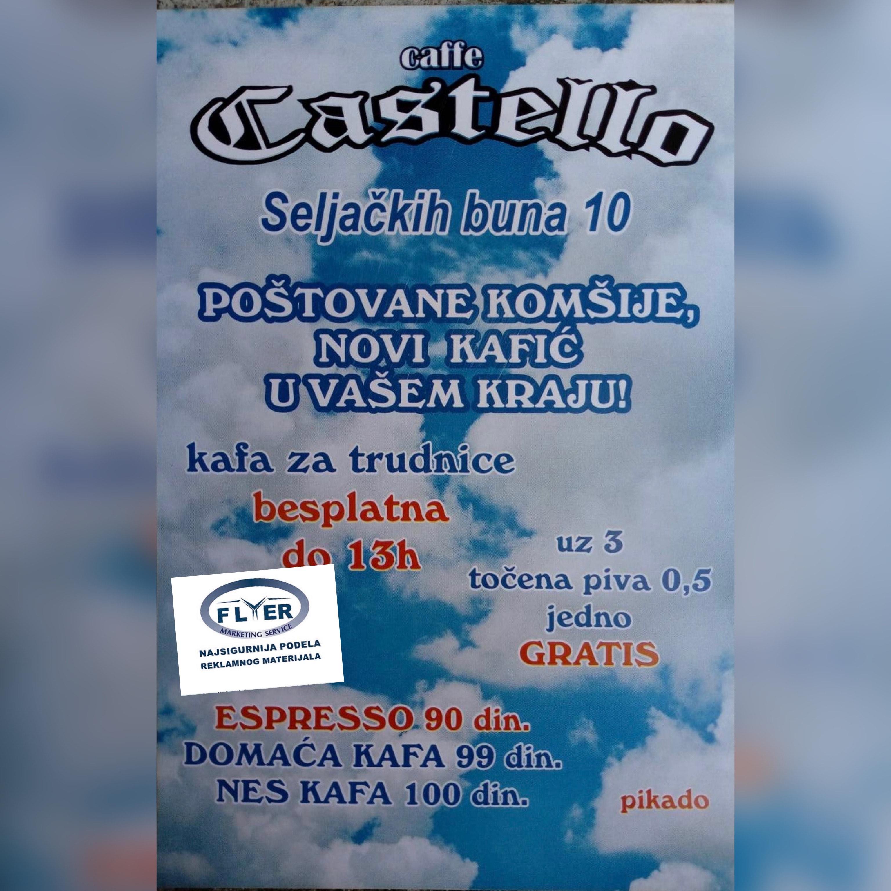 Podela flajera za rođendaonicu-igraonicu Castello