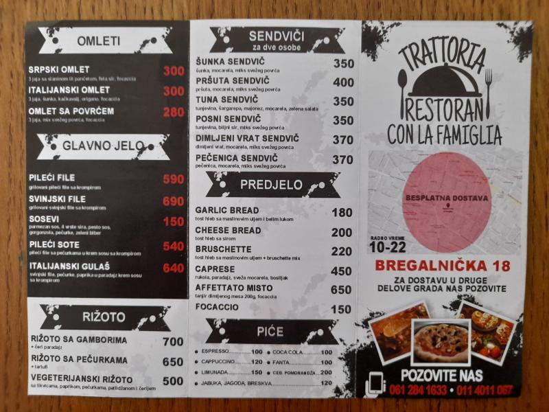 TRATTORTA - RESTORAN CON LA FAMIGLIA