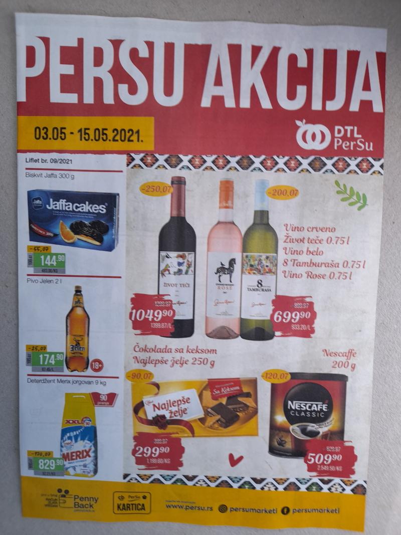 Podela kataloga za Persu markete