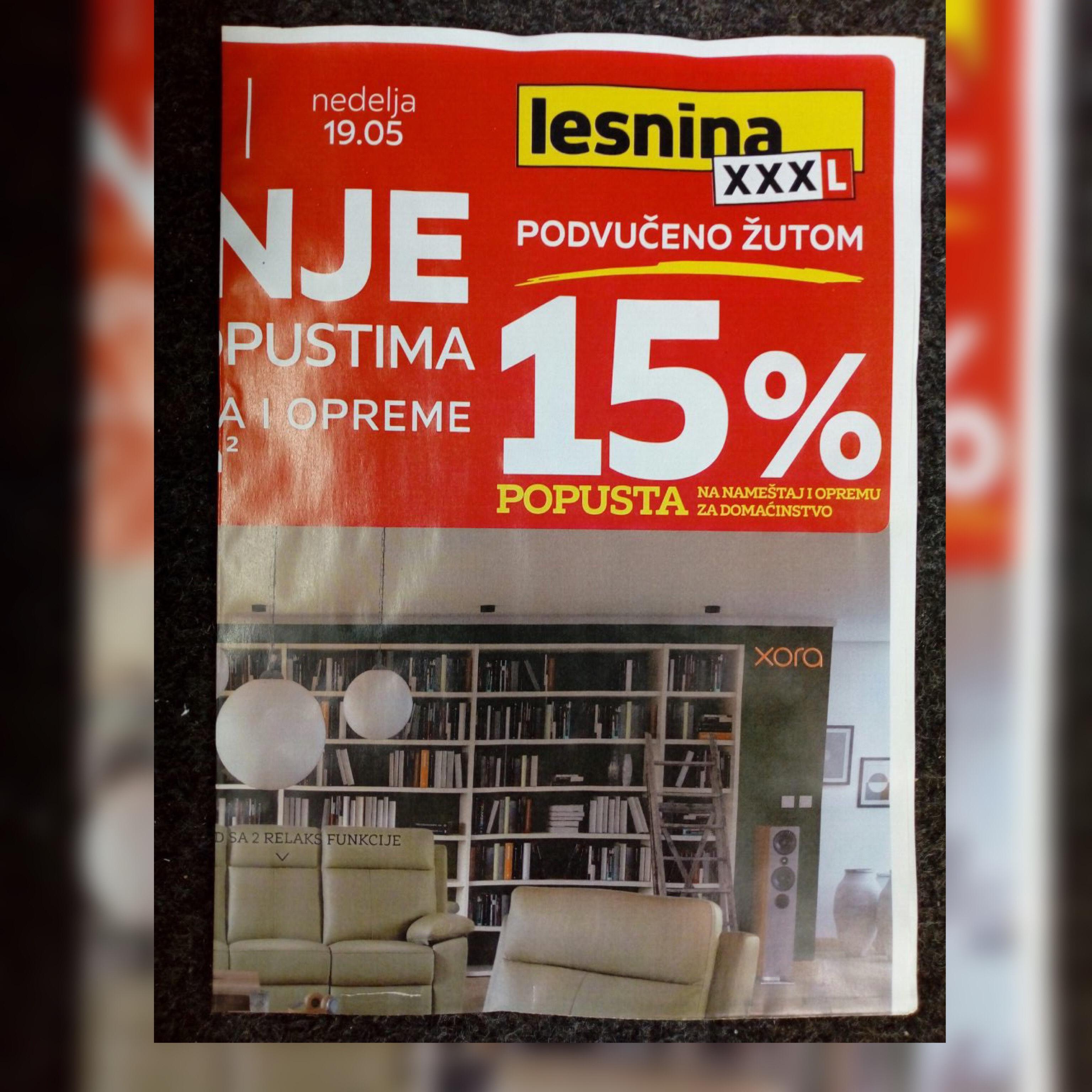 Završena je podela flajera za firmu Lesnina 16.5.2019.