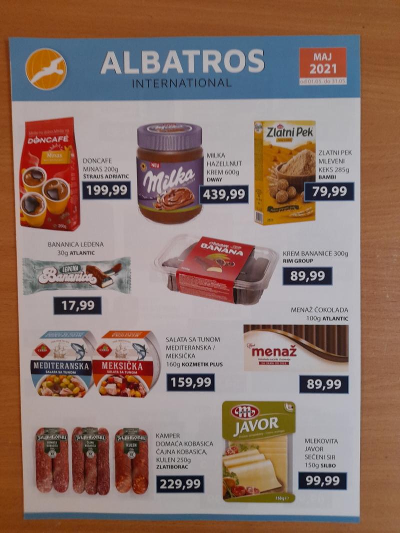 Podela kataloga za Albatros markete