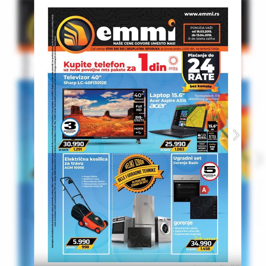 Podela flajera firme Emmi Shop