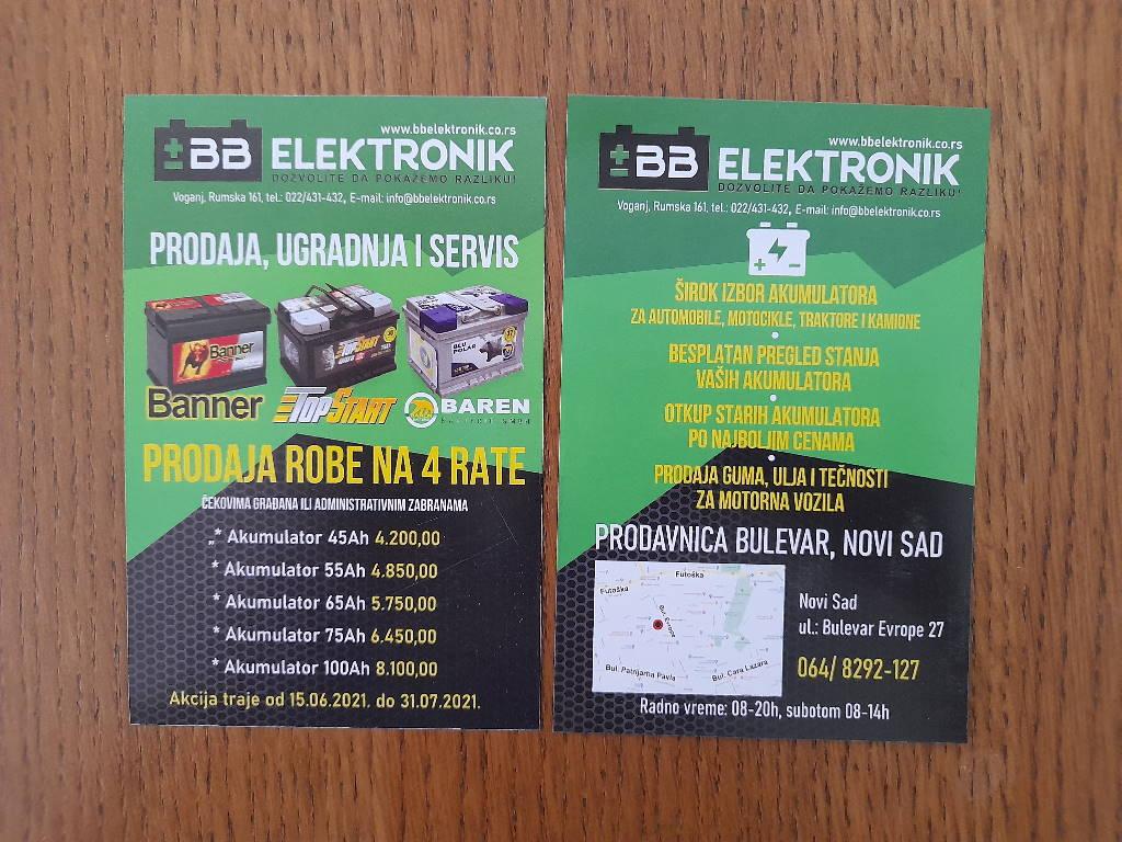 Podela i štampa flajera za BB elektronik