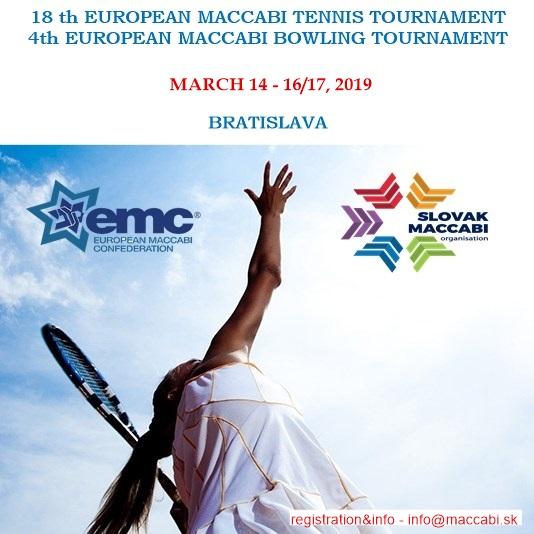 18-i Evropski Makabi turnir u tenisu i 4-i Evropski Makabi turnir u kuglanju