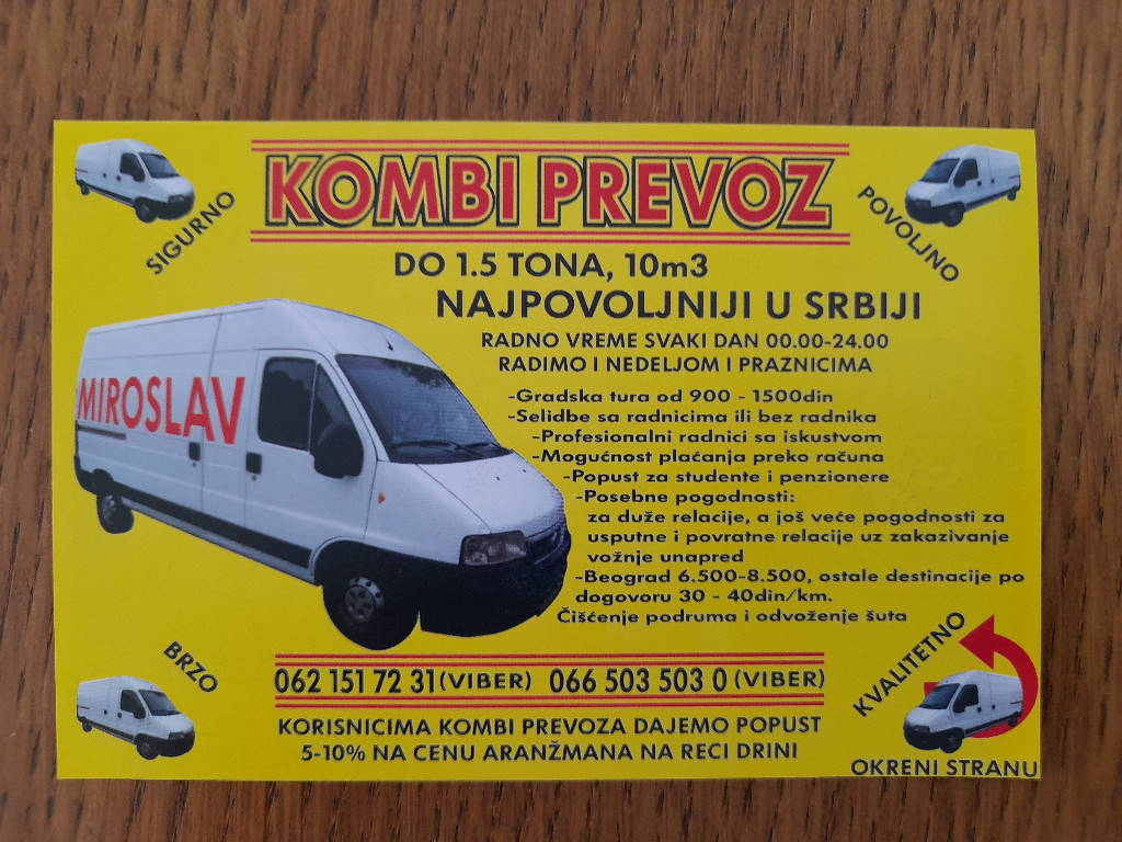 Podela i štampa flajera za KOMBI PREVOZ!!!
