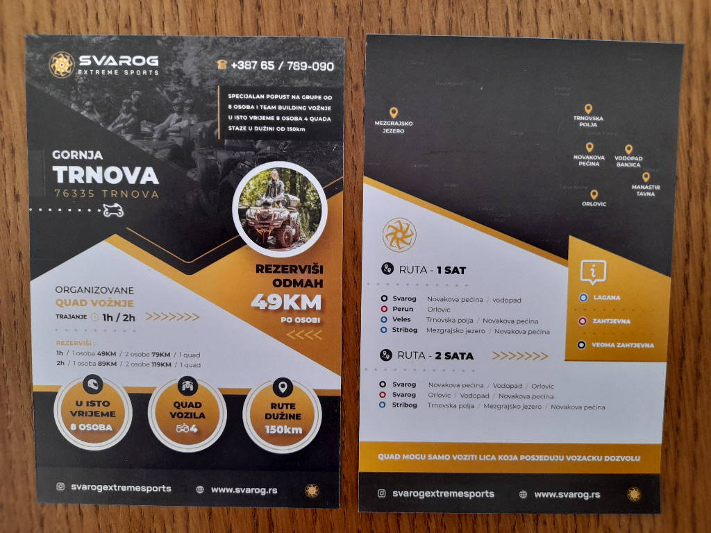 Podela i štampa flajera SVAROG extreme sports