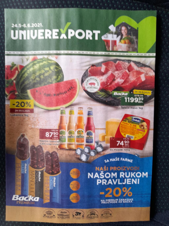 Podela kataloga za UNIVEREXPORT