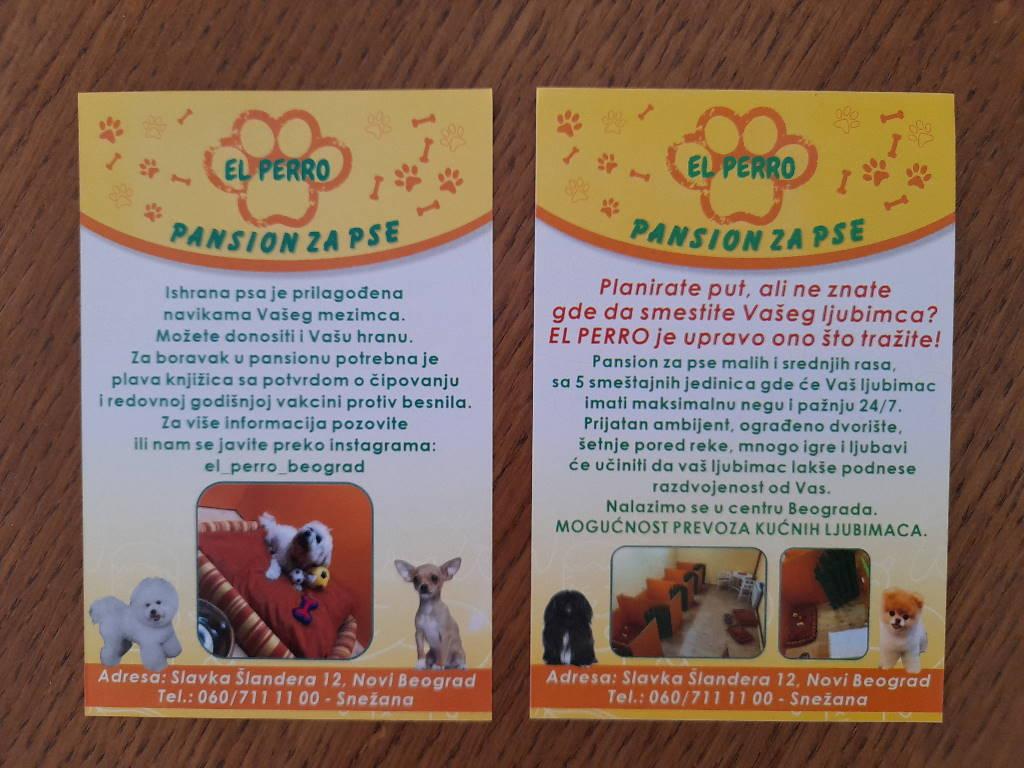 Podela i štampa flajera za El Perro. Pansion za pse!!!
