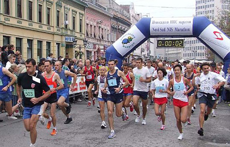 21. Novosadski maraton na Trgu slobode u Novom Sadu