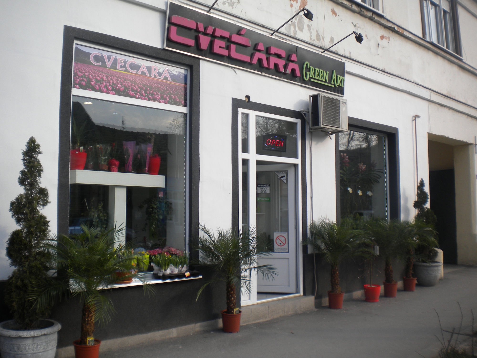 cvećara Green art Novi Sad
