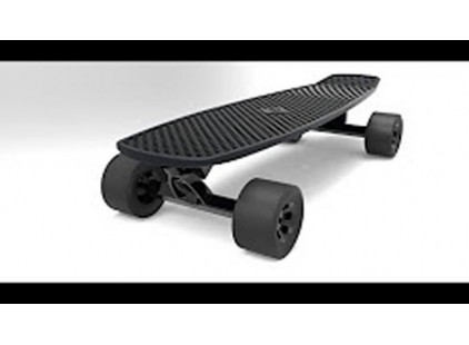An electric skateboard that lets you travel at 20 miles per