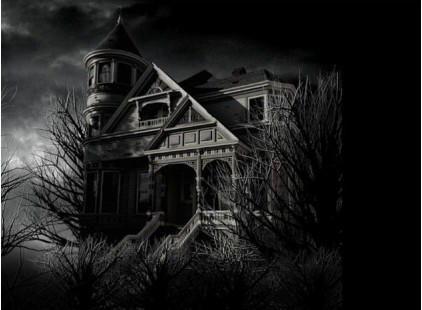 Care for children and ghosts in haunted house