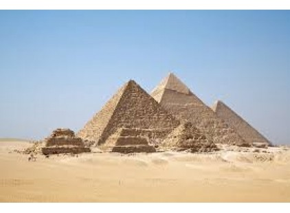 THE PYRAMIDS OF GIZA ARE NEAR A PIZZA HUT